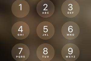 iPhoneのパスコードロック